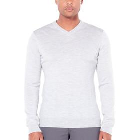 Icebreaker Shearer T-shirt manches longues à col en V Homme, steel heather